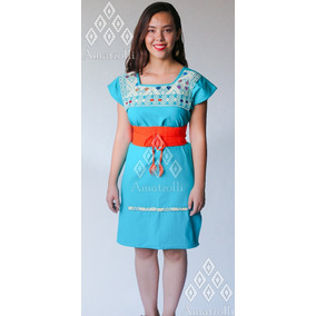 1ec1e4008 Lote 50 Vestidos Artesanales Estilo Frida Bordado En Telar