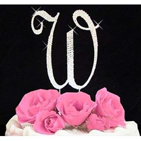5252376a37 Cake Topper Diamantes De Imitación De La Letra W