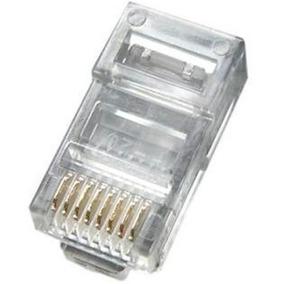 Pacote Com 1000 Conector Rj45 Cat5e Banho De Ouro Top