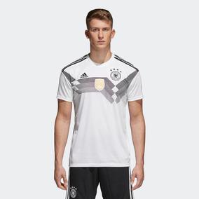 Camisa Dry Fit adidas Branco preto Alemanha Br7843 2647bd0ce4179