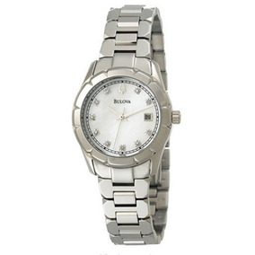 Relógio Bulova Madrepérola E Diamantes - Feminino