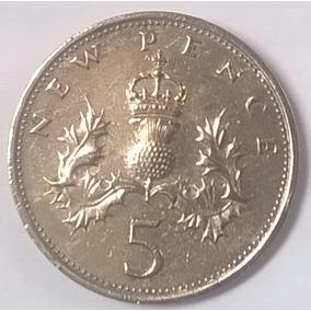 Moeda De 5 New Pence