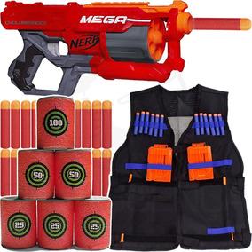 Kit Arma Nerf Cycloneshock + Colete + Alvo + 30 Dardos Mega
