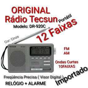 Rádio Portátil Original Tecsun Dr-920c Fm,am + Ondas Curtas