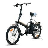 Bicicleta Electrica Plegable Zodin Aro20 Antracita Cyber