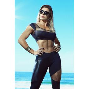 Top La Bella Mafia Original Brasil Camisa Gym Mujer Fitness