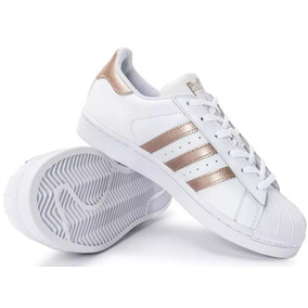 28804091533 Tênis Feminino Superstar Original adidas Rose Gold Com Caixa