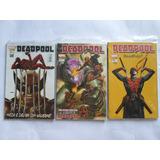 Deadpool N° 2 ,7 E 12 Lote Com 3 Panini 2013 Capa Cartonada
