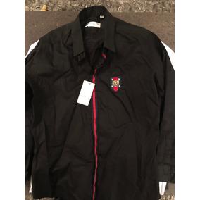 Camisa Negra Gucci Manga Larga