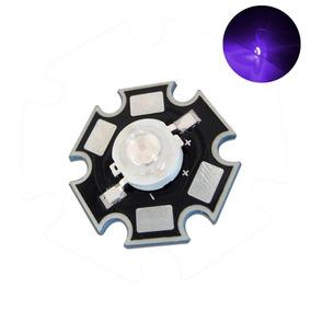 Led Chip 3w Ultravioleta Uv 400nm Super Brillant Con Base