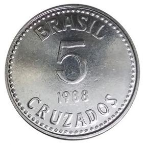 Moeda 5 Cruzados 1988