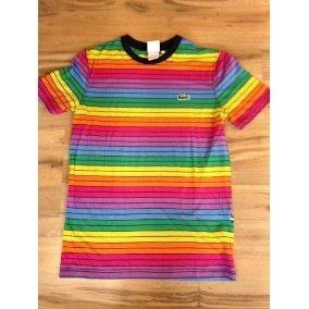 Camisa Lacoste Arco Iris Calcados Roupas E Bolsas No Mercado