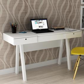 Penteadeira Escrivaninha Pe2002 Branco/branco - Tecno Mobili