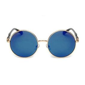 71f39b6c52161 Oculos Redondo Lente Azul De Sol Outras Marcas - Óculos De Sol no ...