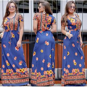 Vestido Longo Moda Evangélica De Manguinha Roupas Feminina