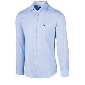 Camisa Polo Club Ca02024 Azul-blanco Caballero Pv