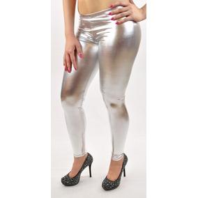 9525d4846a9e Leggins Mujer Color Beige - Leggings de Mujer Plateado en Mercado ...