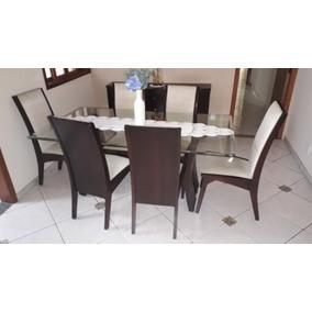 Mesa De Jantar Com 6 Cadeiras Mais Buffet
