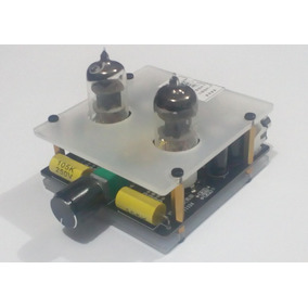 Pré Amplificador Stereo Valvulado Hifi Montado+cabos Stereo