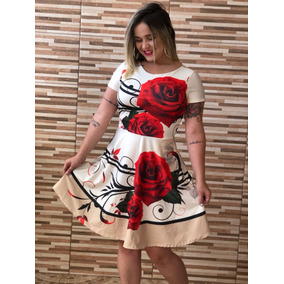 Vestido Feminino Plus Size Midi Gode Moda Evangélica