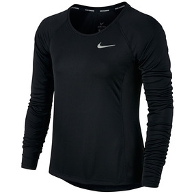 0cf69ddbe3 Camiseta Nike Manga Longa Dry Miler Top Feminino Original Nf
