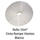 Cinta Rompeviento Blanco P Malla Ciclonica Rollo 15m2 Bl15