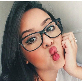d3a7c73b9bafb Oculos Blogueiras Transparente Lente Colorida - Óculos no Mercado ...