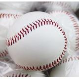 Bola De Beisebol Com 5 Unid Maciça+revestimento Couro 145g