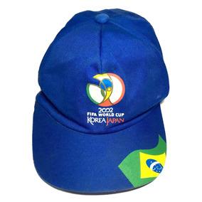 Boné Fifa World Cup 2002 Coréia Japão Bandeira Brasil Azul b2c4e256dc8