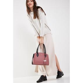 Cartera Mini Bag De Mujer Lazaro Venecia Realce Plum Y Negro