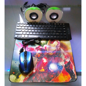 Teclado Silencioso Com Mouse E Mousepad +caixa De Som Grátis