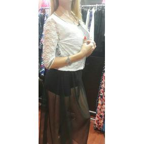 Pollera Short Abajo - Polleras Largas de Mujer Negro en Mercado ... 0b22e2fa087d