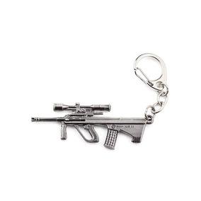 Chaveiro Arma Aug-a1 Metal Resistente Cor Prata