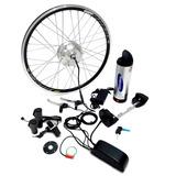 Kit Elétrico Bicicleta 350w Bateria Lithium Samsung Preto