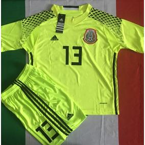 Increible Uniforme Portero Mexico Ochoa 13 Niño Verde Limon 36fd5b9902e64