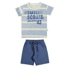 Conjunto Infantil Masculino Elian Camiseta E Bermuda Small