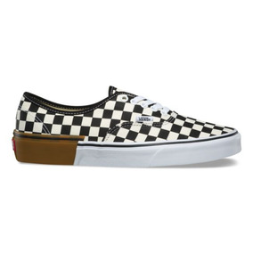 Tenis Vans Authentic Gum Block Checkerboard Beigue / Goma