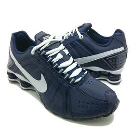 5e0ec26d44f Tênis Nike Shox Junior Azul Marinho E Branco - Tênis no Mercado ...
