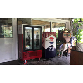 Heladera Coca Cola Retro Tipo Antigua Barbacoa Boliche Bar