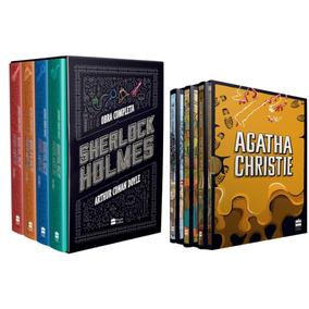Box Sherlock Holmes + Coleção Agatha Christie Box 6