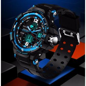 Relógio Esportivo Sanda Azul À Prova De Água