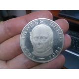 Moneda Conmemorativa Andres Bello 100 Bolivares De Plata