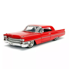 Carro Miniatura 1963 Cadillac Vermelho Escala 1/24 Jad99550