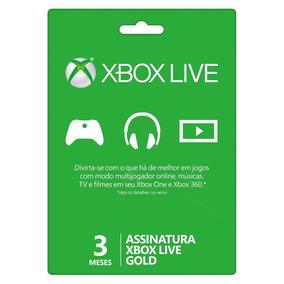 Xbox Live Gold 3 Meses Xbox One Conta De Acesso + Brinde