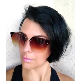 51b03210e4e9e Oculos De Sol Feminino Transparente Marrom - Óculos no Mercado Livre ...