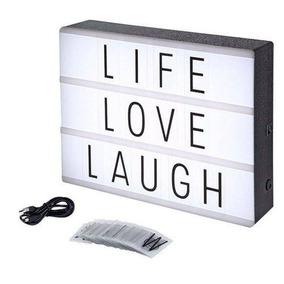 Led Lightbox Luminária Cinema Quadro Letras Decoração Usb A5