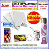 Vinilo Autoadhesivo Blanco Sublimable Resma 10 Hojas Moritzu