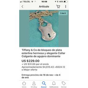 Tiffany Candado Collar Oferta Original