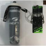 Garrafa Cooler Térmica Caramanho Befit 700ml Preta + Suporte