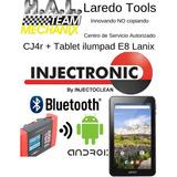 Cj4r + Tablet Escaner Con Tableta Lanix Injectronic Cj4